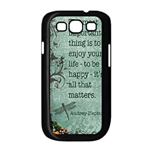 Audrey Hepburn Quote DIY Cover Case with Hard Shell Protection for Samsung Galaxy S3 I9300 Case lxa#903998 Kimberly Kurzendoerfer
