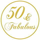 50 and Fabulous Birthday Party Sticker Labels - Elegant Diva Favors Envelope Seals - Set of 30