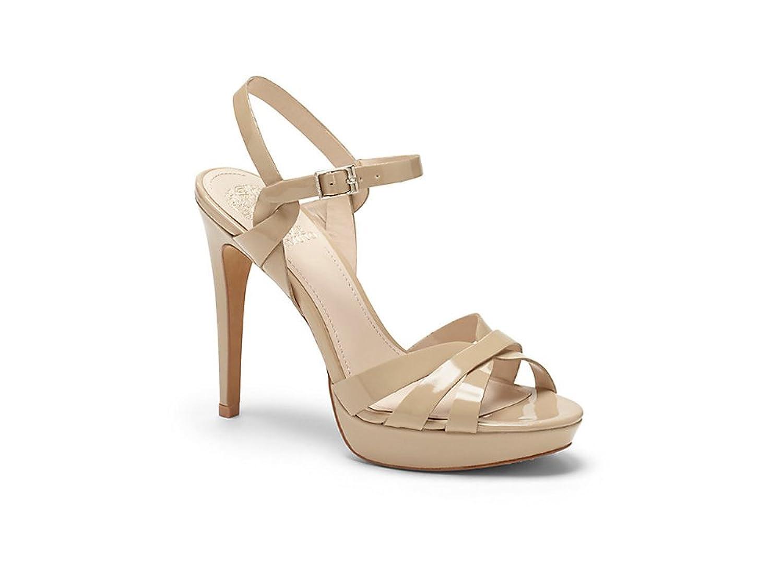 Amazon.com | Vince Camuto Jessamae Women Open Toe Patent Leather Nude  Platform Sandal | Pumps