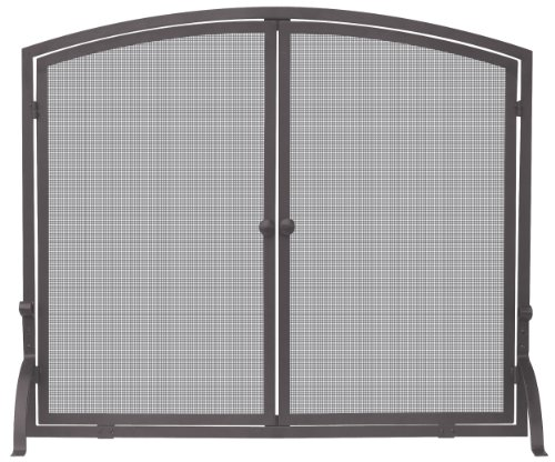 Uniflame, S-1632, Single Panel Bronze Finish Screen with Doors