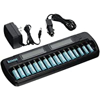Knox 16-Bay Rapid Ni-MH AA/AAA Battery Charger w/16 Batteries