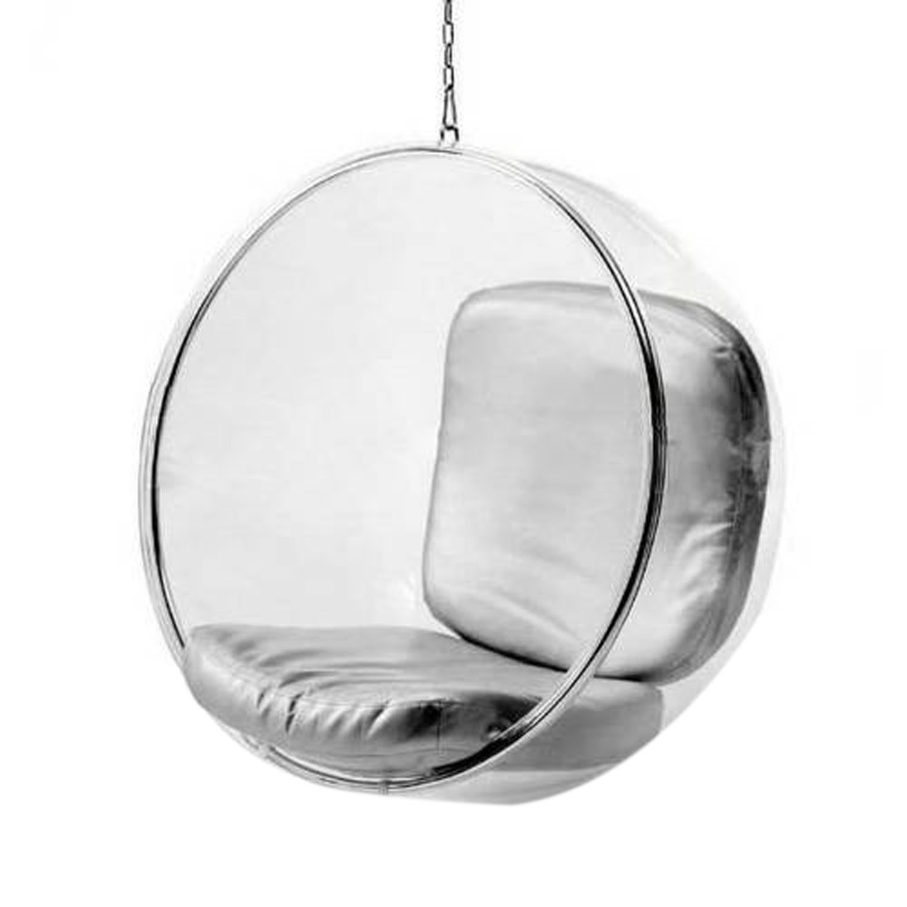 Bubble chair eero aarnio - Amazon Com Bubble Hanging Chair With Polished Chrome Base In Clear Kitchen Dining