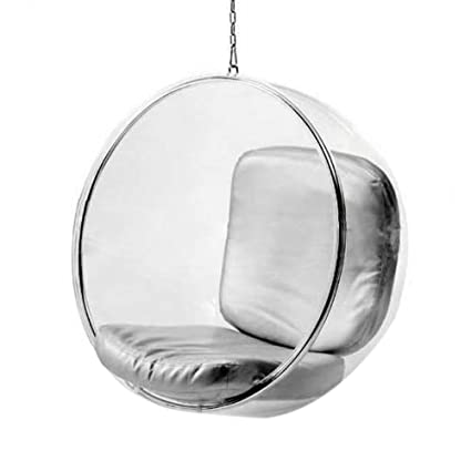 FineMod FMI1122 Silver Bubble Hanging Chair, Silver