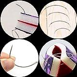 80Pcs Curved Needles BUTUZE Plastic Needle Case