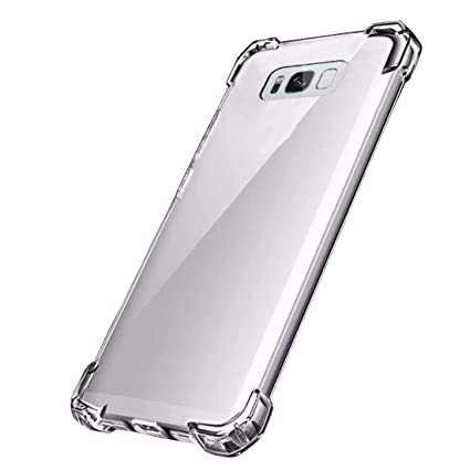 Amazon.com: Funda para Galaxy S8, carcasa transparente de ...