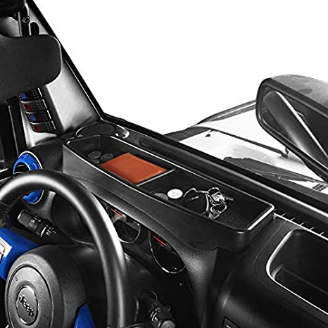 Hooke Road Dashboard Dash Phone Key Storage Box Console Tray for 2011-2018 Jeep Wrangler JK 4350409584