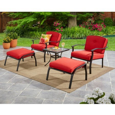 Mainstays Belden Park 5-Piece Leisure Set (Red) For Sale