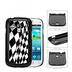 Black And White Checkered Racing Flag Hard Plastic Snap On Cell Phone Case Samsung Galaxy S3 SIII Mini I8200