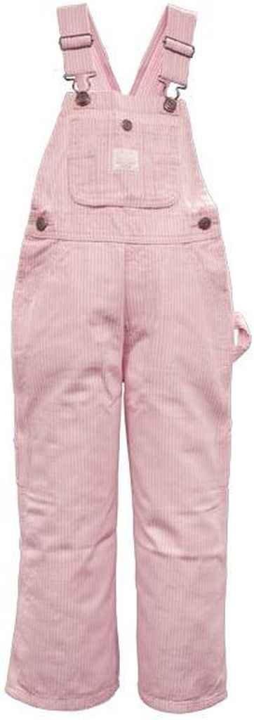 Lakin McKey 225 Kid's Premium Washed Bib Overall Pink Stripe Size 5