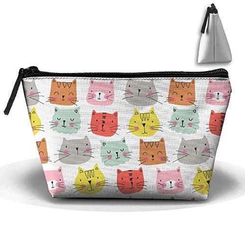 SESY Cute Cat Face Hand Bag Pouch Portable Storage Bag Clutch Handbag