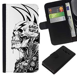 All Phone Most Case / Oferta Especial Cáscara Funda de cuero Monedero Cubierta de proteccion Caso / Wallet Case for Samsung Galaxy A3 // Grunge Mech Skeleton