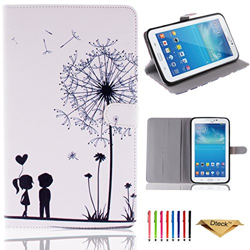 Galaxy Tab 3 7.0 Case, P3200 P3210 T210 T211 Case, Dteck(TM) Cute Cartoon Flip Stand Case with Card Slots Protective Synthetic Leather Cover for Samsung Galaxy Tab 3 7.0(Childhood)