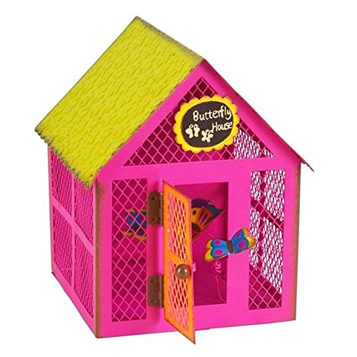 Mini Dollhouse FAIRY GARDEN Accessories - Pink Butterfly Sanctuary - My Garden Miniatures