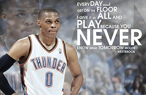 Russell Westbrook Poster family silk wall print 36 inch x 24