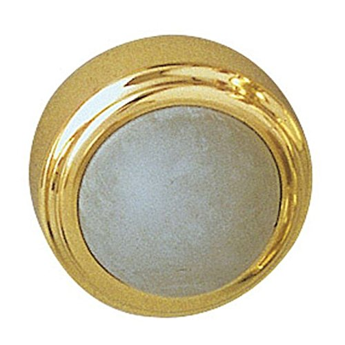 Baldwin 4252.030 Convex Wall Mounted Door Bumper, Polished Brass - Lacquered -