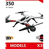 HECHAI_ WLTOYS XK STUNT X350 Drone 4CH 6-Axis 3D 6G Mode RC Quadcopter Air Dancer Aircraft , mode 2-eu adapter