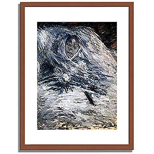 クロードモネ「死の床のカミーユ Camille Monet auf dem Totenbett 1879 」 インテリア アート 絵画 プリント 額装作品 フレーム:木製(茶) サイズ:XL (563mm X 745mm) B00NEDN30Y 4.XL (563mm X 745mm)|1.フレーム:木製(茶) 1.フレーム:木製(茶) 4.XL (563mm X 745mm)