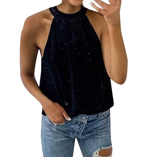 87c9d4c7cda4a0 Women Solid Tank Top FAPIZI Lace Up Sleeveless T-Shirt Velvet Turtleneck  Vest Top Lady
