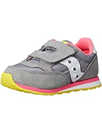 Jazz Hook & Loop Sneaker (Toddler/Little Kid), Grey/Pink,...