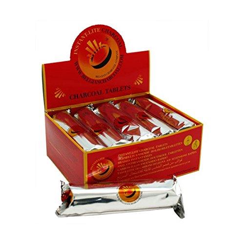 Belgian Charcoal - 6x rotoli di 10carboncini ad accensione rapida per narghilè shisha, produzione belga