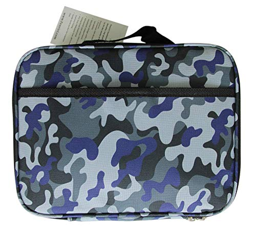 Kids Lunch Box for Elementary School Boys and Girls by Fenrici | Flexible Soft Sided | Spacious | Insulated | Food Safe | 10W x 7.5H x 3D | Camo | Yukon | Support A Great Cause