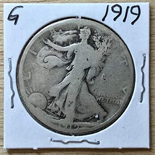 Genuine ~1919 Walking Liberty Half-Dollar 90% Silver (L220)
