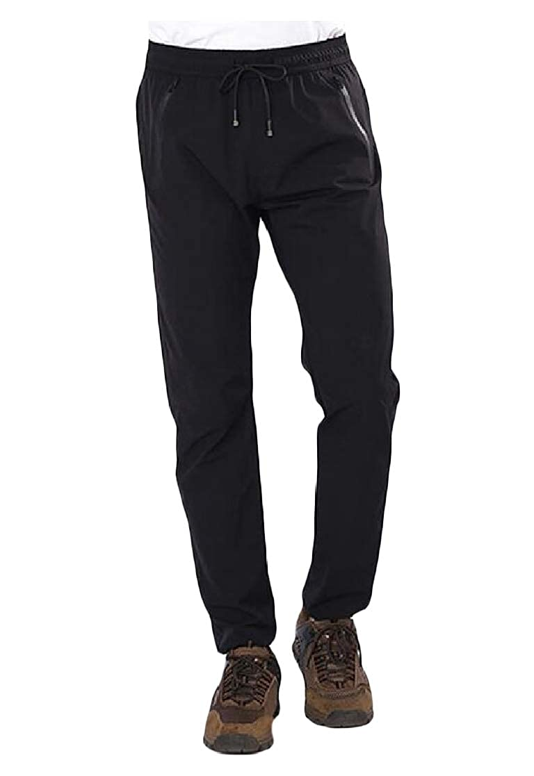 Joe Wenko Men Trousers Drawstring Sport Breathable Outdoor Quick-Drying Pants