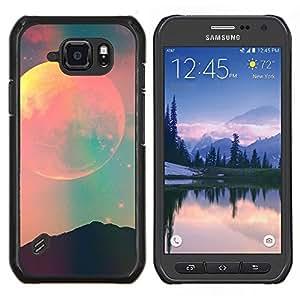 Espacio Luna Cielo trullo Rosa Naturaleza Noche- Metal de aluminio y de plástico duro Caja del teléfono - Negro - Samsung Galaxy S6 active / SM-G890 (NOT S6)