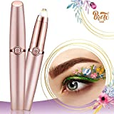 Votala Electric Eyebrow Trimmer and Shaver with LED Light for Men and Women, Rose Gold (Batteries not Included)