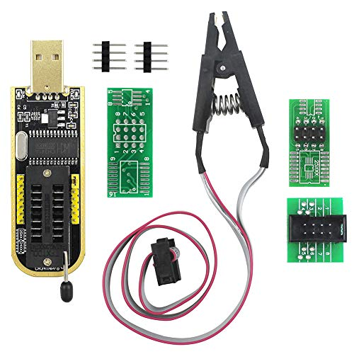 Bios Flash Chip - KeeYees SOP8 SOIC8 Test Clip for EEPROM 93CXX / 25CXX / 24CXX + CH341A 24 25 Series EEPROM Flash BIOS USB Programmer