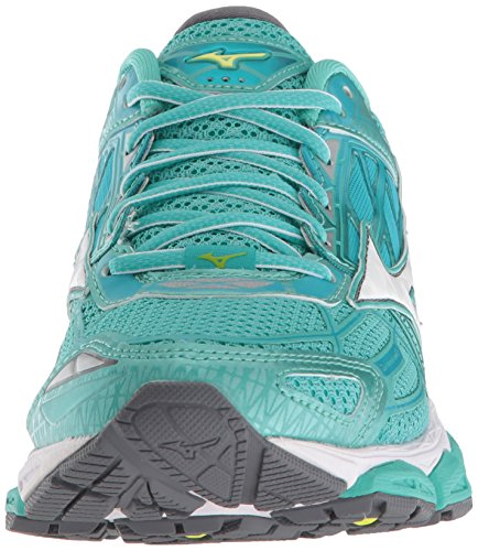 Wave Turquoise 19 Shoe Peacock Women's Creation Mizuno Blue Running pwBfTnq