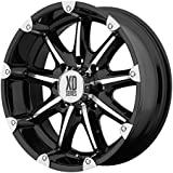 "XD Series by KMC Wheels XD779 Badlands Gloss Black Wheel with Machined Accents (20x9""/8x170mm, +18mm offset)"