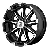 XD Series by KMC Wheels XD779 Badlands Gloss Black Wheel with Machined Accents (18x9''/5x127mm, +18mm offset)