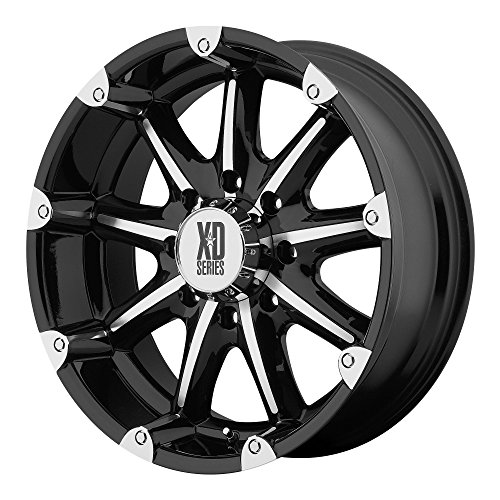 XD Series by KMC Wheels XD779 Badlands Gloss Black Wheel with Machined Accents (18x9''/8x165.1mm, +18mm offset) by XD Series by KMC Wheels (Image #2)