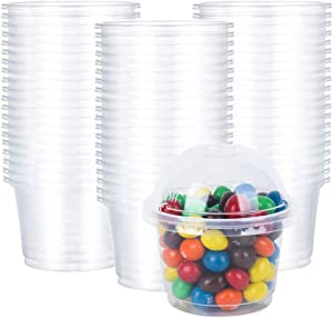 JAYEEY 8OZ Parfait Cups with Dome lids 50 Sets Ice Cream Cups Food Containers Dessert Cups