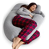 PharMeDoc Pregnancy Pillow, U-Shape Full Body Pillow and Maternity Support with Detachable Extension - Support for Back, Hips, Legs, Belly for Pregnant Women: more info