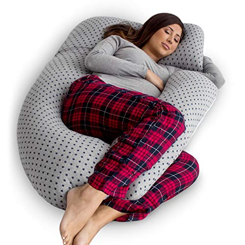 Pregnancy Pillows Back Support - PharMeDoc Pregnancy Pillow, U-Shape Full Body