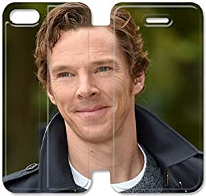 Benedict Cumberbatch-5 iPhone 5 5S Leather Flip Case Protective Cover New Colorful