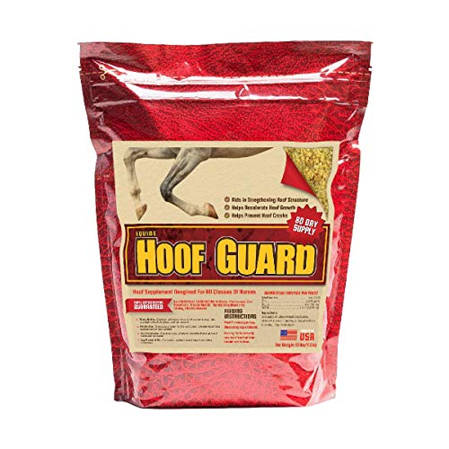 Equine Hoof Guard Concentrated Hoof Supplement For Horses With Biotin, Msm, Methionine And Zinc, 10 lb