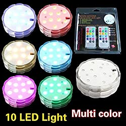 10 LED Remote Controlled Submersible LED RGB light Floralytes wedding light