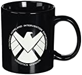 shield marvel mug - ICUP Marvel - Agents of SHIELD TV Show Eagle Crest Logo  20oz. Black Ceramic Coffee Mug