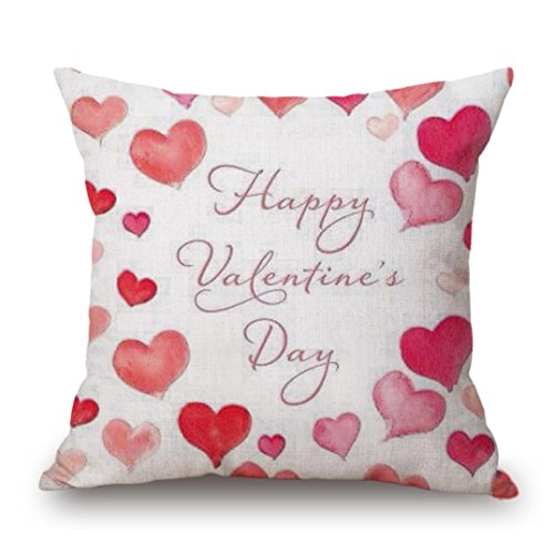 Pillow Cover, Jujunx Happy Valentine's Day Throw Pillow Case