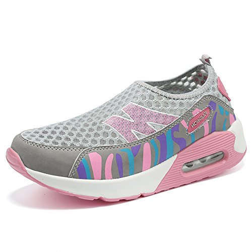 Shape Air Cushion Slip EnllerviiD Mesh Grey Up Shoes Women Platform Shoes Athletic On Toning 6w5qA5p
