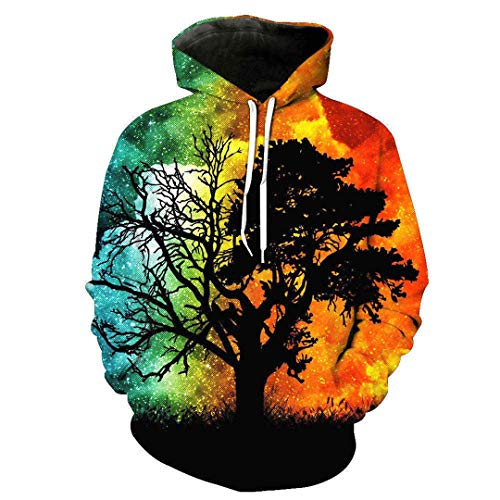 3D Hoodies Print Green Tree Beach Pattern Slim Unisex Slim Stylish Hooded Hoodies 2407 4XL - Soft Surroundings Long Skirt Skirt