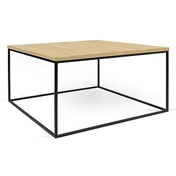 Structure Table Plateau Chêne Temahome Gleam Basse Carrée 50 Clair QrxeCBoWd