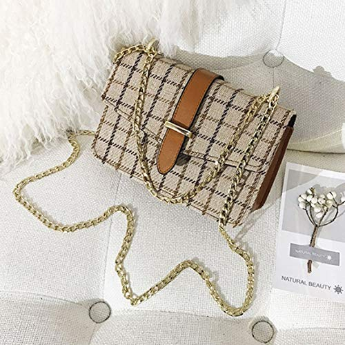Delicacydex plaid borsa a match in modello Borsa a piccola a di tracolla catena stile lana All Borsa donna da tracolla tracolla Borsa in di per borsetta tracolla a stoffa vintage cvRzc7Zy