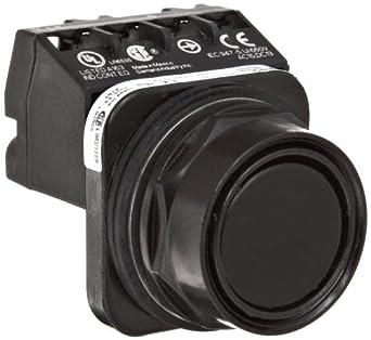 Siemens 52PX8A1J Heavy Duty Pushbutton Unit and Assembled Contact Blocks, Black Max Corrosion Resistant, Flush Cap, Black, 1 NC Contact Type