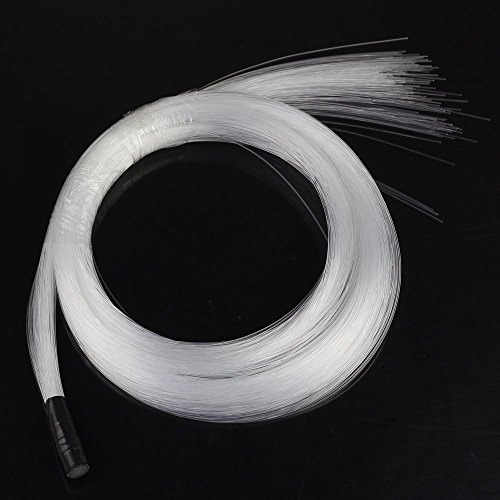 CHINLY 100pcs Φ0.04in(1.0mm) 6.5ft(2M) long PMMA plastic end glow fiber optic cable for star sky ceiling all kind led light engine driver