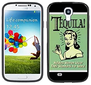 Funny Tequila Sign Handmade Samsung Galaxy S4 Black Bumper Hard Plastic Case