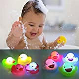 Yimosecoxiang New Popular Children's Toys 1Pc Newborn Baby Bath Time Toy Changing Color Duck Flashing LED Lamp Light